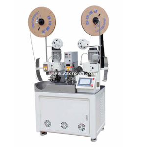 One Head Wire Rubber Seals Insertion and Two-end Terminal Crimping Machine